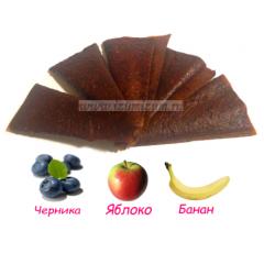 "Пастила ""Особая"" (live), черника, яблоко, банан"